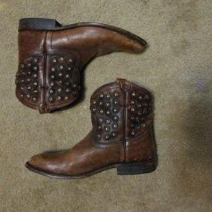 FRYE studded cowboy booties